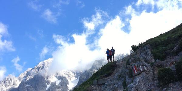 Aufstieg nach der Erichhütte