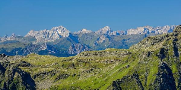 Blick auf Lienzer Dolomiten von Oberer Seescharte
