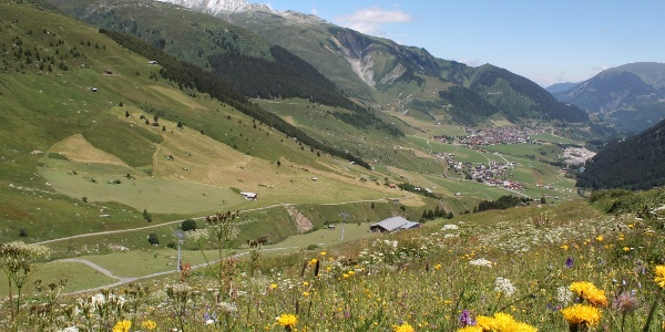 Aussicht ins Tal von West nach Ost