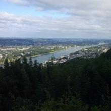 Blick vom Drachenfels nach Bonn