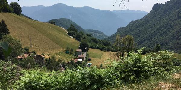 Aufstieg nach San Lucio, Blick zurück Richtung Porlezza
