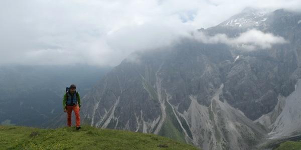 Auf dem Höhenweg zum Gstreinjöchl
