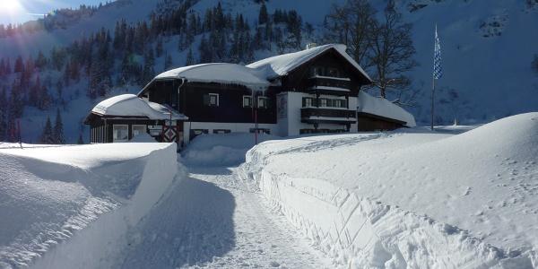 Winterstimmung auf dem Bodenschneidhaus