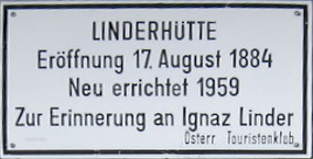 ÖTK-Linderhütte Schild