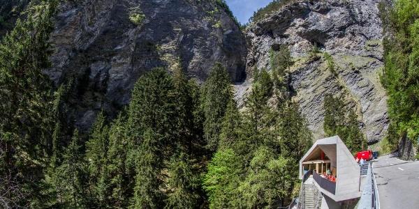 Besucherzentrum in der Viamala-Schlucht