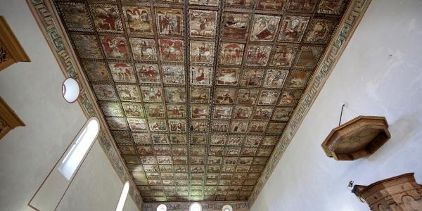 Weltberühmte Holzdecke Kirche Zillis