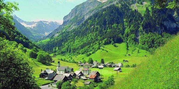 Das Dorf Weisstannen