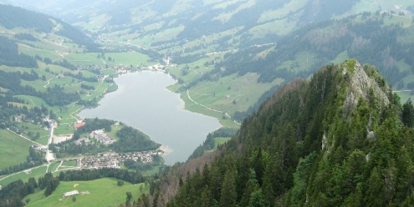 View from Rippa to the Schwarzsee