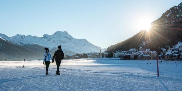winter hiking Silvaplana