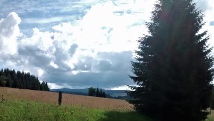 Ein erster Blick auf den Fichtelberg