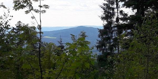 Blick vom Weg zum Haidstein