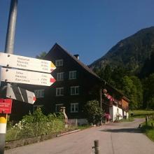 Wegweiser in Sankt Anton