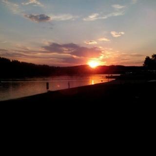 Sonnenuntergang in Frymburk