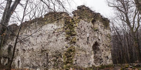 A kolostorrom a turistaútról nézve