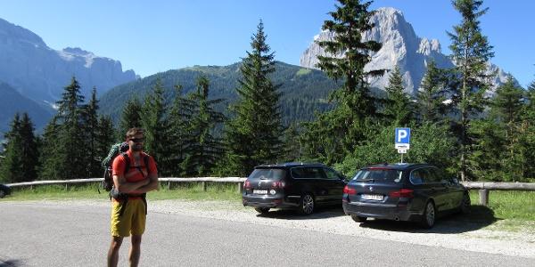 Wanderparkplatz in Daunei (Zustieg zur Juac Hütte)