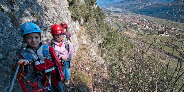 Sentiero degli Scaloni, panorama sulla valle del Sarca