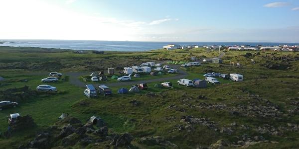 Camping inmitten der Natur: Hellisandur
