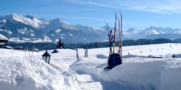 Cross-country skiing in Ofterschwang