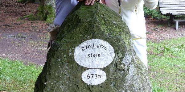 Der höchste Punkt am Dreiherrenstein ist erreicht.