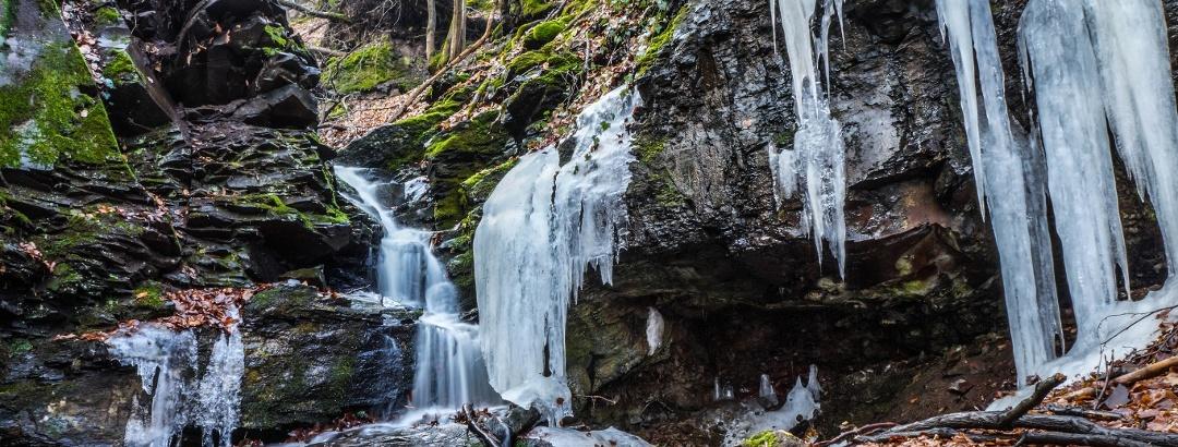 A Felső-vízesés télen