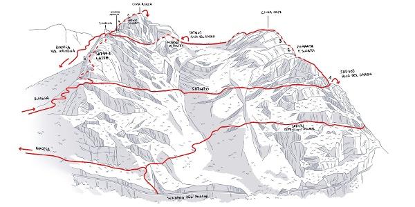 The route to Cima Rocca