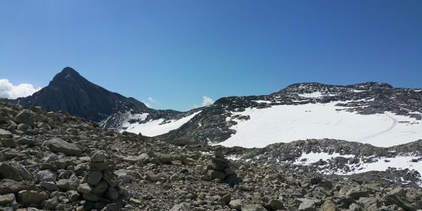 Schesaplana mit Brandner Gletscher oberhalb Leibersteig