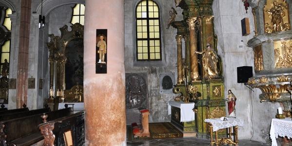 Szent Jakab templom belső tere