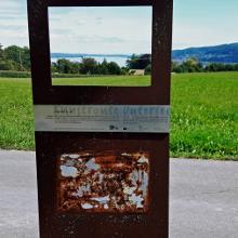 Stele des Malers Helmuth Macke, das Bild fehlte leider