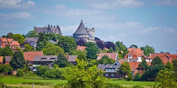 Blick auf Bentheim mit der Burg