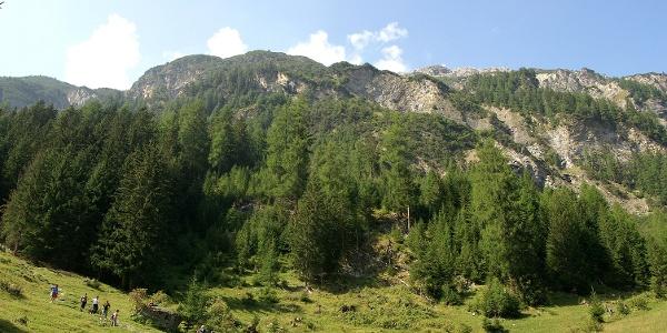 Auf dem Bahnerlebnisweg zwischen Preda und Bergün.