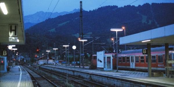 Der Start: Bahnhof Garmisch
