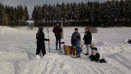 Im Saydaer Ski- und Wandergebiet am kleinen Vorwerk