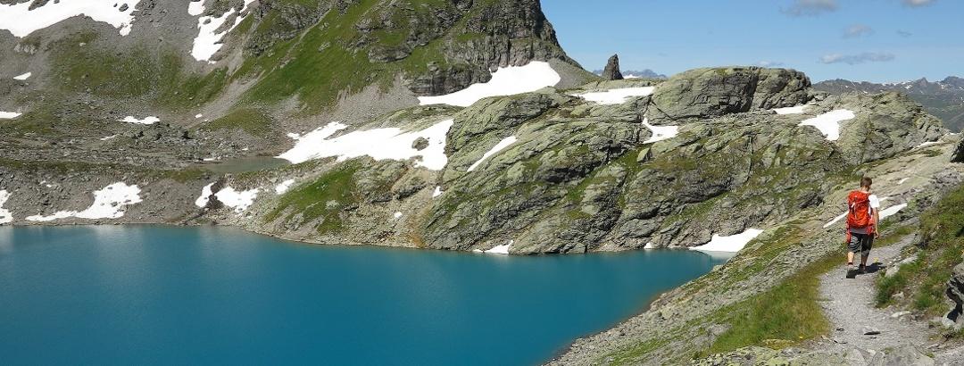 Am Wildsee auf der 5-Seen-Wanderung Pizol.