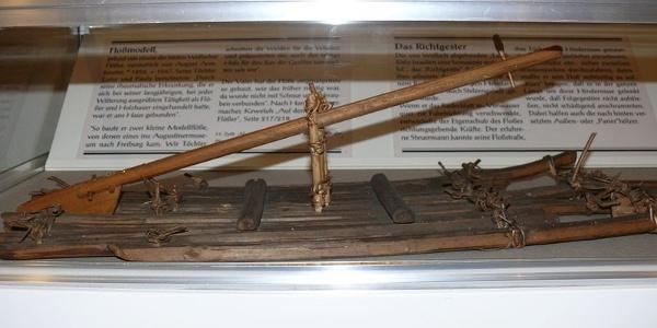 Floßmodell in der Flößerstube des Wolfacher Museums