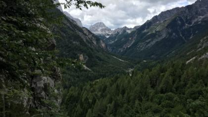 View into the Julian alps from trail after Vrsic pass