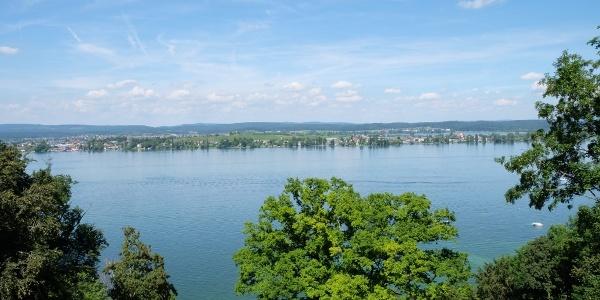 Blick auf den Untersee mit der Insel Reichenau