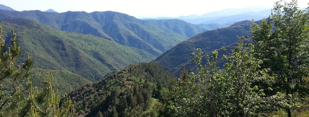 Landschaft in Ligurien