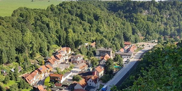 Blick auf den Ort Rübeland