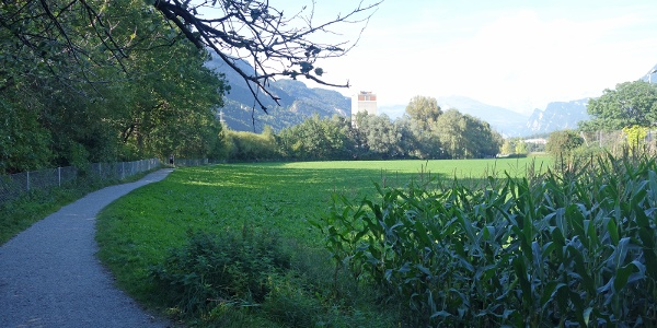 Rückweg in die Stadt entlang dem Mühelbach