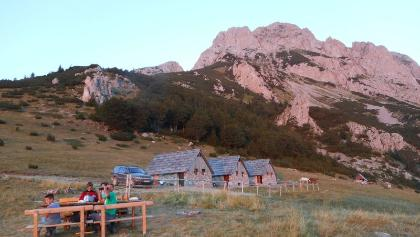 Prijevor katuns, getting ready for Maglic direct ascent