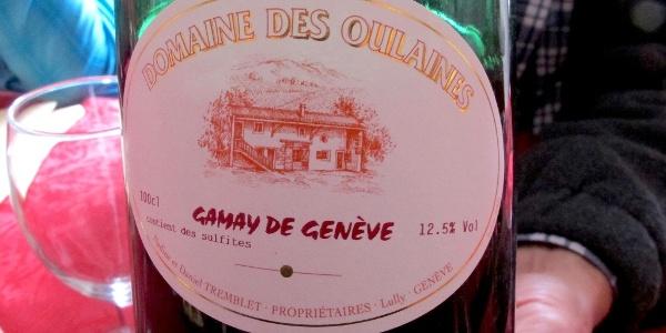 Genfer Wein aus der Gamay-Rebe.