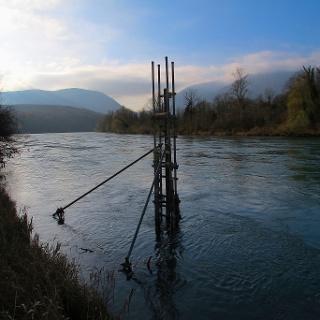 Am Grenzfluss Rhone.