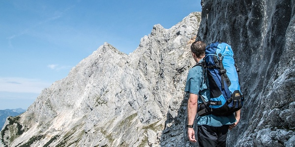 Aufstieg über Schaflsteig zur Mayrbergscharte