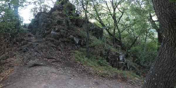 A Newton-szikla egyik tömbje