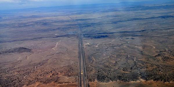 Die Route 66 aus der Vogelperspektive