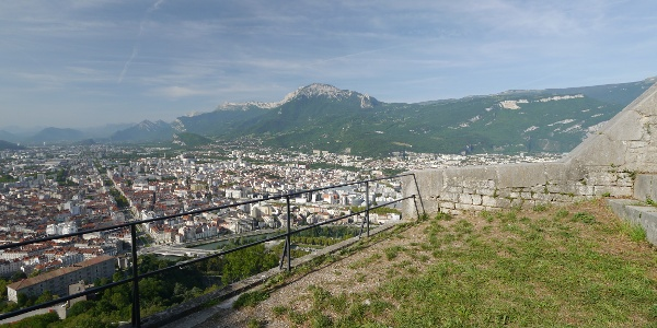Gazing over Grenoble from the Bastille