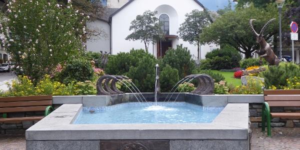 Brunnen im Zentrum von Mayrhofen