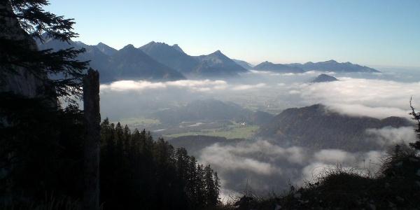 Blick nach Westen ins Lechtal