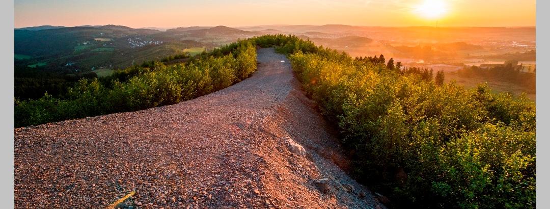 Geologischer Sprung Aussicht Bilstein