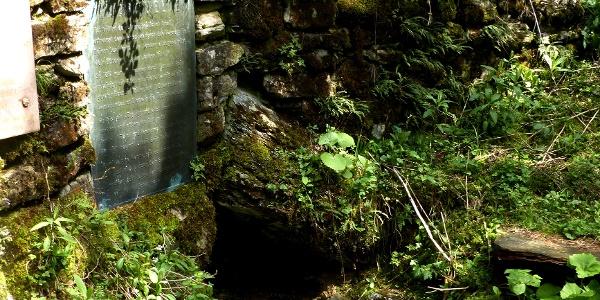 Tafel bei der Raab-Quelle